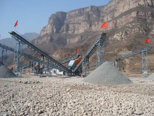Stone crushing plant in Anyang, Henan