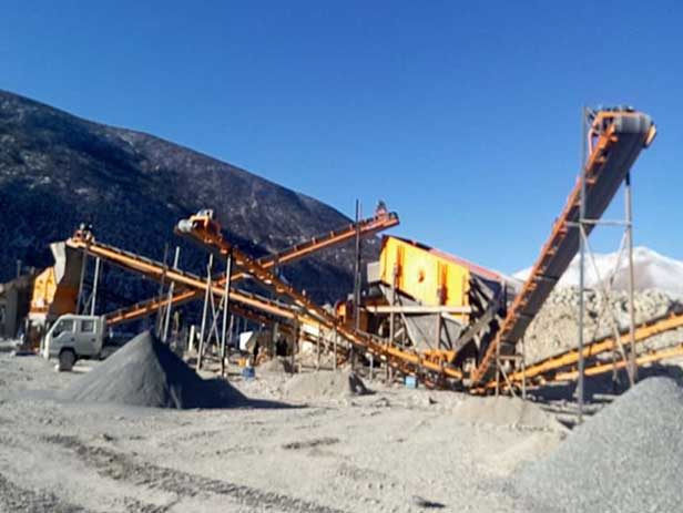 Stone Crushing Plant in Lhasa, Tibet
