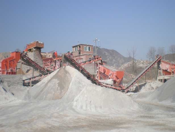 Stone crushing plant in Kunming, Yunnan